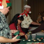 Joe Davis, General Manager; Jennifer Nakayama, Director of Operations; and Sean Coffey, Director of Event Management serve up some delicious desserts to the HCC `Ohana!