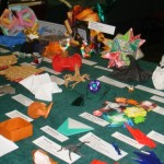 A display of unique and intricate origami in the exhibit hall of the Hawai`i Convention Center.