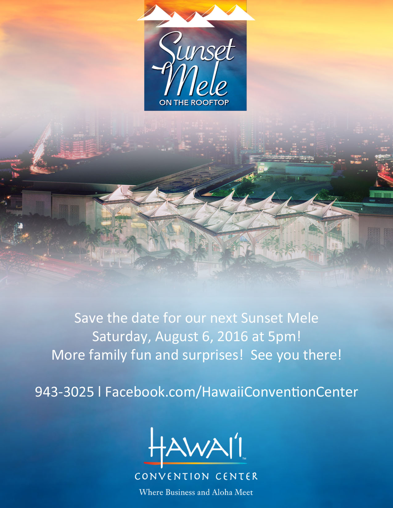 "Come ""Home"" to Sunset Mele on the Rooftop this August 2016"