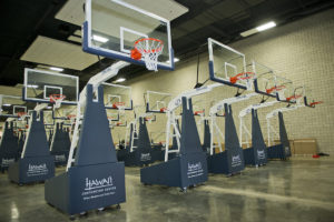 New Basketball Equipment at the Hawaii Convention Center