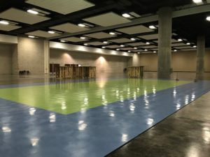 New Volleyball Court at the Hawaii Convention Center