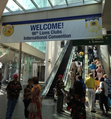 The 98th Lions Clubs International (LCI) Convention bring  18,000 Lions delegates to Hawaii