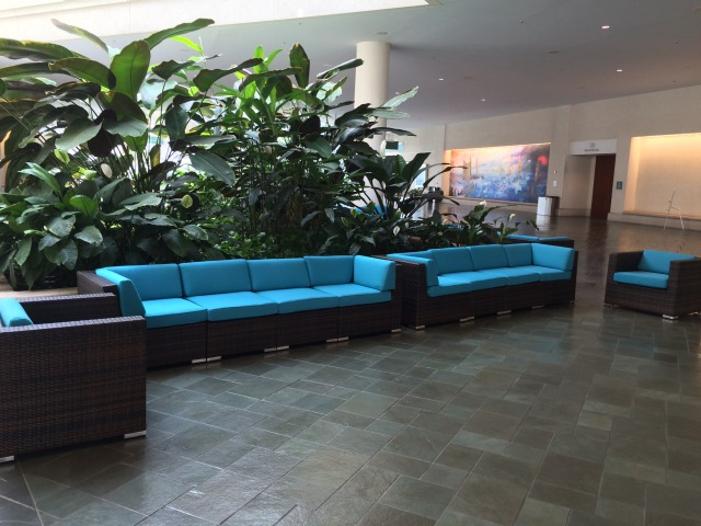 New comfortable furniture at HCC.