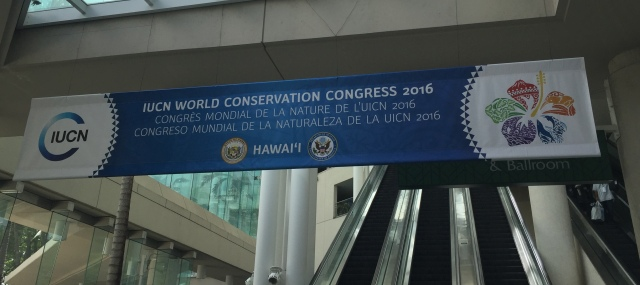 IUCN World Conservation Congress 2016 at the Hawaii Convention Center
