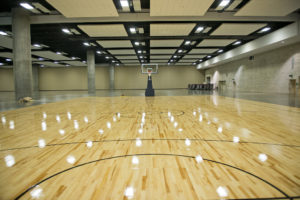 New Basketball Court at the Hawaii Convention Center (real-wood flooring)
