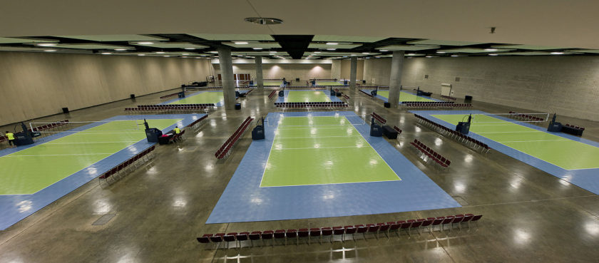 Volleyball Courts at Hawaii Convention Center